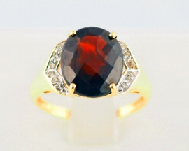 Diamond & Garnet Cocktail Ring