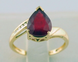 Enhanced Ruby & Diamond Ring