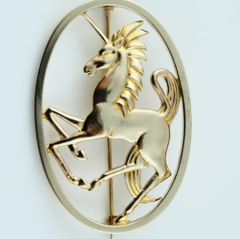 Geoffrey G Bellamy Unicorn Brooch