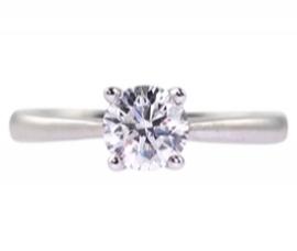 Platinum .33ct Diamond Solitaire