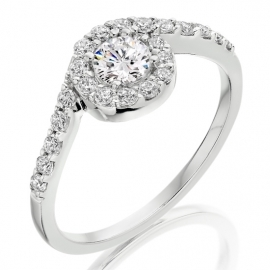 Platinum .63ct Diamond Ring