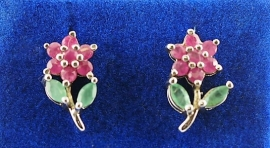 Ruby & Emerald Earrings