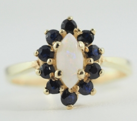 Sapphire & Opal Ring