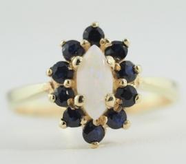 Sapphire & Opal Ring